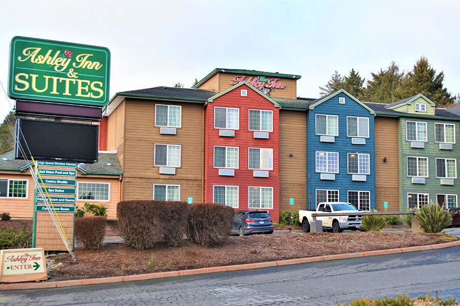 exterior of The Ashley Inn & Suites